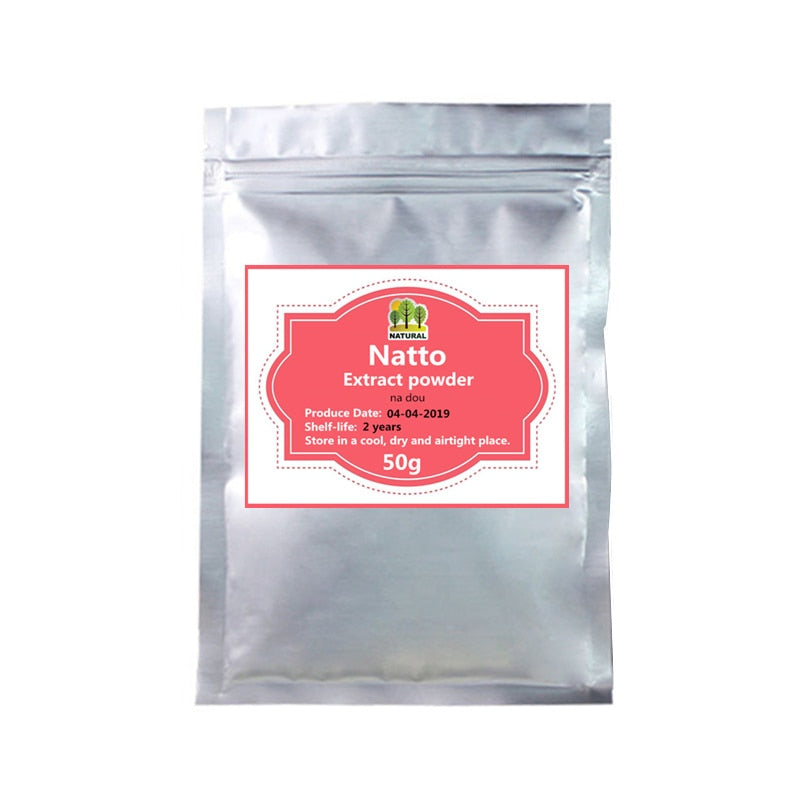 50-1000g,High quality Organic natto extract Powder,nattokinase powder,Na Dou,Nutrition supplement for all people - Smoulder Products