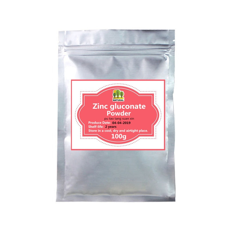 50-1000g,Organic Zinc supplement,Food Grade Zinc gluconate powder,Zn-Gluconate,Zinc nutrition enhancer,Healthy immunity Support - Smoulder Products