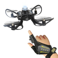 Folding drone gesture control aerial photography four-axis aircraft body sense gravity induction remote control aircraft