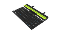 Wireless Bluetooth Rolling Keyboard Outdoor Office Chocolate Portable Folding Phone Tablet