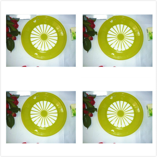 Barbecue plate party plate disposable plate plastic dinner plate tray hollow flat plate color plate - Smoulder Products