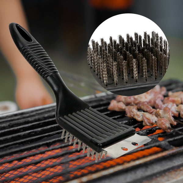 Barbecue cleaning steel brush