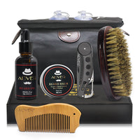 Man Hair Beard Shaving Set Bathroom Tool Brush Comb Shaving Scissors Clean Styling Set