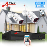 ANRAN 2MP Surveillance System 2CH HD Wireless NVR Kit Security System Outdoor IP Camera System IR Cut IP66 Waterproof APP View - Smoulder Products