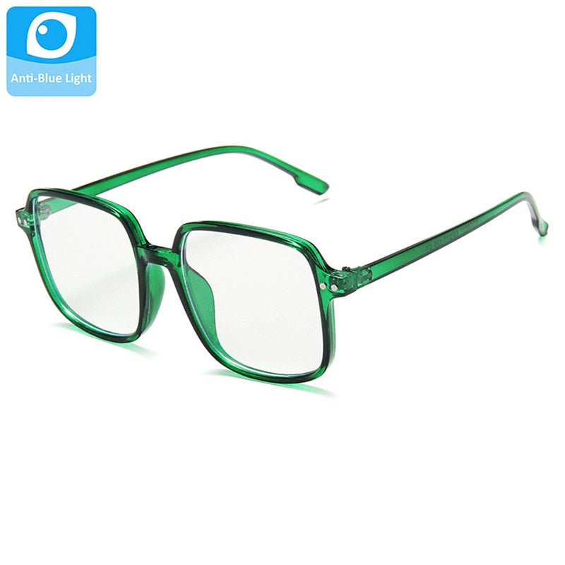Anti Blue Light Block Glasses Children Square Eyeglass Girls Frame Kids Clear Lens Green Eyepiece Shades Boys Eyewear Child - Smoulder Products