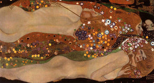 Handmade oil painting reproduction Water Snakes II by Famous Gustav Klimt Oil Painting On Canvas Klimt Canvas Paint For Museam - Smoulder Products
