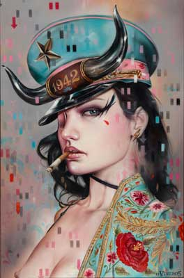High quality Oil painting Canvas Reproductions 1942 by Brian M.Viveros Painting hand painted - Smoulder Products