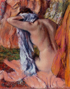 High quality Oil painting Canvas Reproductions After the Bath (1890-1893) By Edgar Degas hand painted - Smoulder Products