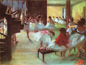 High quality Oil painting Canvas Reproductions Ballet School (1873)  By Edgar Degas hand painted - Smoulder Products