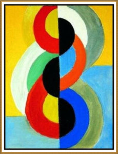 High quality Oil painting Canvas Reproductions Color Rhythm Geometric Cubism by Robert Delaunay  hand painted - Smoulder Products