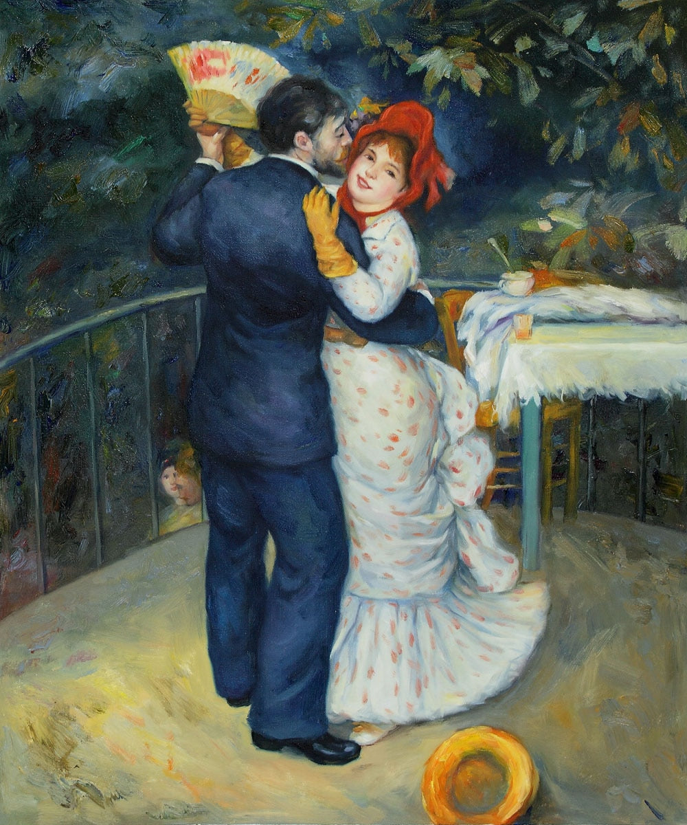 High quality Oil painting Canvas Reproductions Dance in the Country By Pierre Auguste Renoir hand painted - Smoulder Products