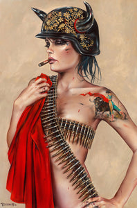 High quality Oil painting Canvas Reproductions EMPIRE by Brian M.Viveros Painting hand painted - Smoulder Products