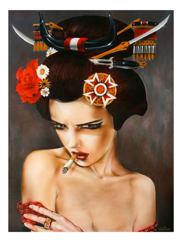 High quality Oil painting Canvas Reproductions Enter the Dragon by Brian M.Viveros  Painting hand painted - Smoulder Products