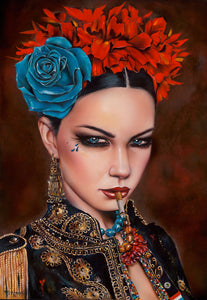 High quality Oil painting Canvas Reproductions FORBIDDEN  by Brian M.Viveros Painting hand painted - Smoulder Products
