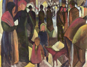 High quality Oil painting Canvas Reproductions Farewell (1914)  By August Macke hand painted - Smoulder Products