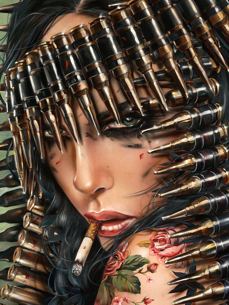 High quality Oil painting Canvas Reproductions IF LOOKS COULD KILL by Brian M.Viveros Painting hand painted - Smoulder Products