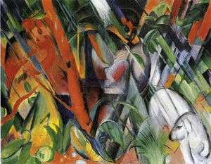 High quality Oil painting Canvas Reproductions In the Rain 1912  By Franz Marc  hand painted - Smoulder Products