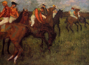 High quality Oil painting Canvas Reproductions Jockeys (1895)   By Edgar Degas hand painted - Smoulder Products