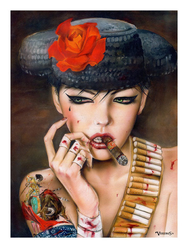 High quality Oil painting Canvas Reproductions Mata Adore You Forever by Brian M.Viveros  Painting hand painted - Smoulder Products