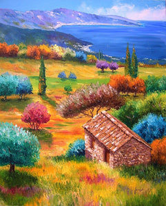 High quality Oil painting Canvas Reproductions Mediterranean By Jean Marc Janiaczyk hand painted - Smoulder Products