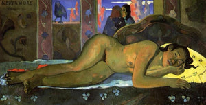 High quality Oil painting Canvas Reproductions Nevermore (1897)  by Paul Gauguin hand painted - Smoulder Products