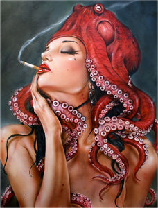 High quality Oil painting Canvas Reproductions Octopussy II Her  by Brian M.Viveros  Painting hand painted - Smoulder Products