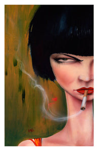 High quality Oil painting Canvas Reproductions Pisst  by Brian M.Viveros  Painting hand painted - Smoulder Products