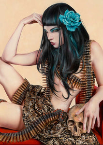 High quality Oil painting Canvas Reproductions QUEEN OF THE LAND  by Brian M.Viveros Painting hand painted - Smoulder Products