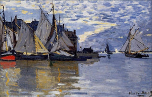 High quality Oil painting Canvas Reproductions Sailboats (1864-1866) By Claude Monet Painting hand painted - Smoulder Products