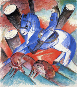 High quality Oil painting Canvas Reproductions Saint Julian l'Hospitalier 1913  By Franz Marc  hand painted - Smoulder Products