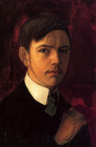 High quality Oil painting Canvas Reproductions Self-portrait (1906)  By August Macke hand painted - Smoulder Products