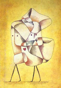 High quality Oil painting Canvas Reproductions Siblings (1930)  by Paul Klee Painting hand painted - Smoulder Products