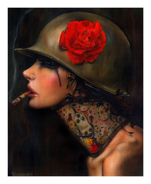 High quality Oil painting Canvas Reproductions Suffocate  by Brian M.Viveros  Painting hand painted - Smoulder Products