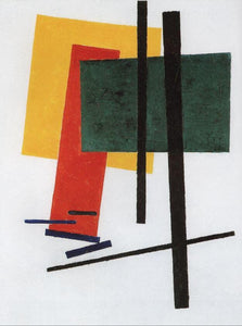 High quality Oil painting Canvas Reproductions Suprematism (1915)04  By Kazimir Malevich hand painted - Smoulder Products