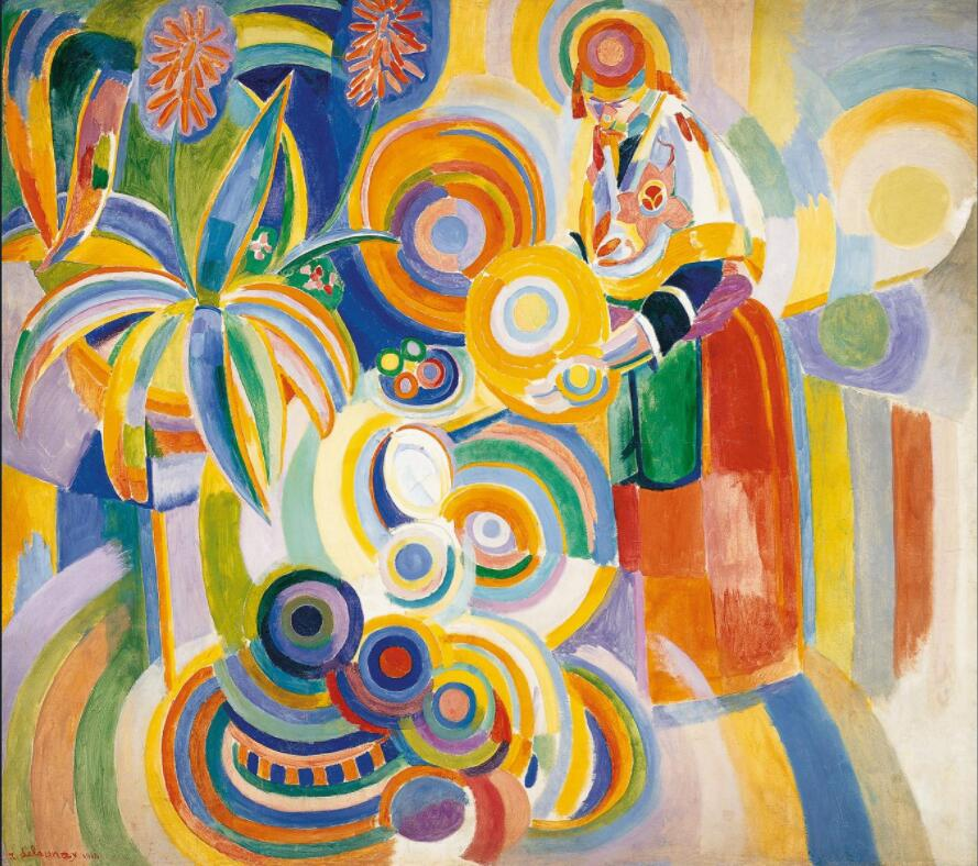 High quality Oil painting Canvas Reproductions Tall Portuguese Woman (1916)  by Robert Delaunay  hand painted - Smoulder Products