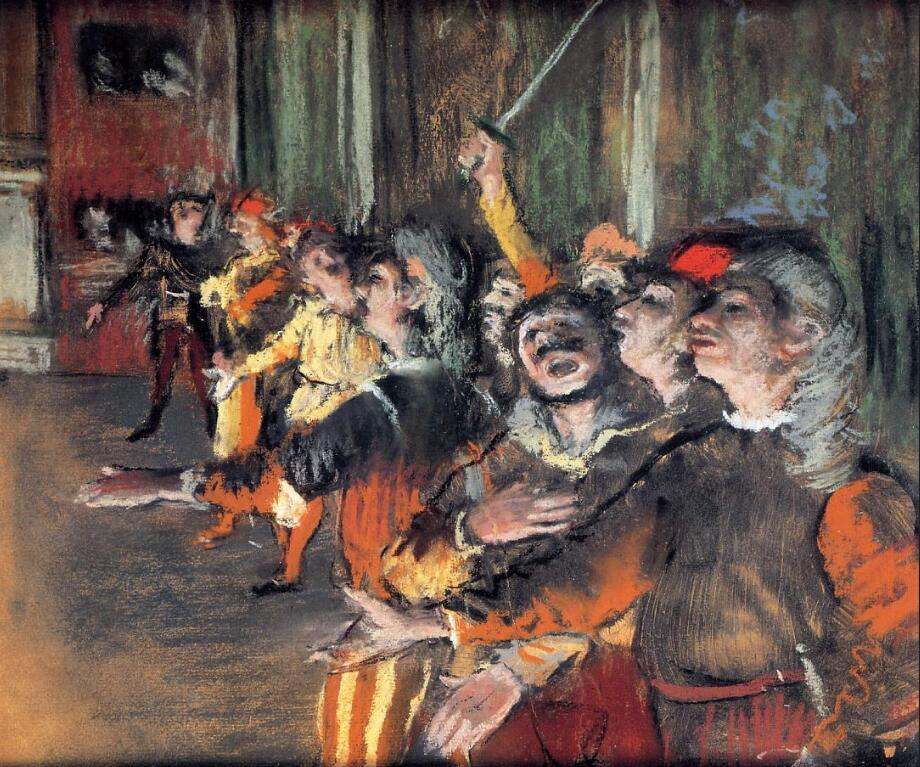 High quality Oil painting Canvas Reproductions The Chorus (1876) By Edgar Degas hand painted - Smoulder Products