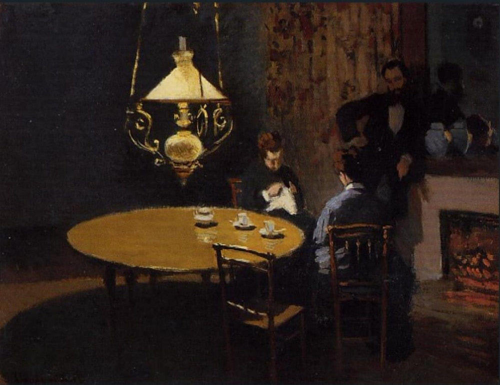 High quality Oil painting Canvas Reproductions The Dinner (1868-1869)  By Claude Monet hand painted - Smoulder Products