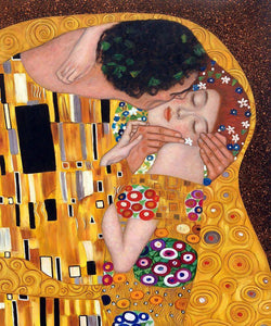 High quality Oil painting Canvas Reproductions The Kiss 02  by Gustav Klimt Painting hand painted - Smoulder Products