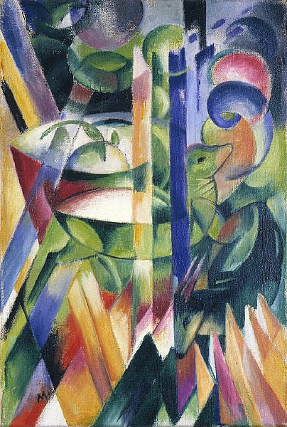 High quality Oil painting Canvas Reproductions The Little Mountain Goats  By Franz Marc  hand painted - Smoulder Products