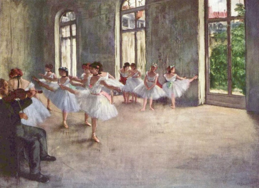 High quality Oil painting Canvas Reproductions The Rehearsal (1873-1878) By Edgar Degas hand painted - Smoulder Products