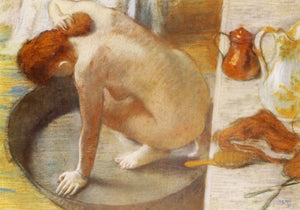 High quality Oil painting Canvas Reproductions The Tub (1886)  By Edgar Degas hand painted - Smoulder Products