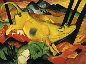 High quality Oil painting Canvas Reproductions The Yellow Cow 1911 By Franz Marc  hand painted - Smoulder Products