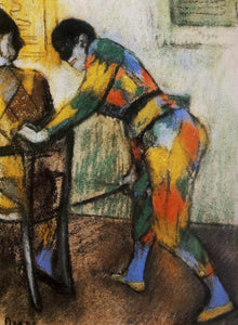 High quality Oil painting Canvas Reproductions Two harlequins (1886)  By Edgar Degas hand painted - Smoulder Products