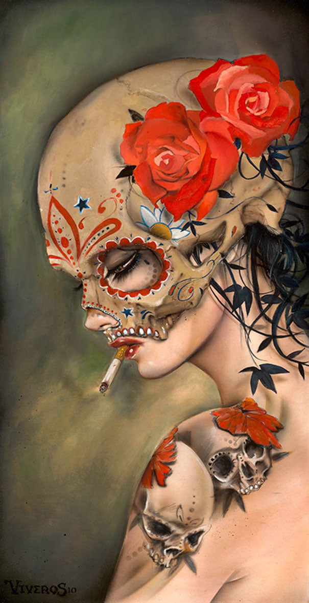 High quality Oil painting Canvas Reproductions Viva La Muerte III  by Brian M.Viveros  Painting hand painted - Smoulder Products
