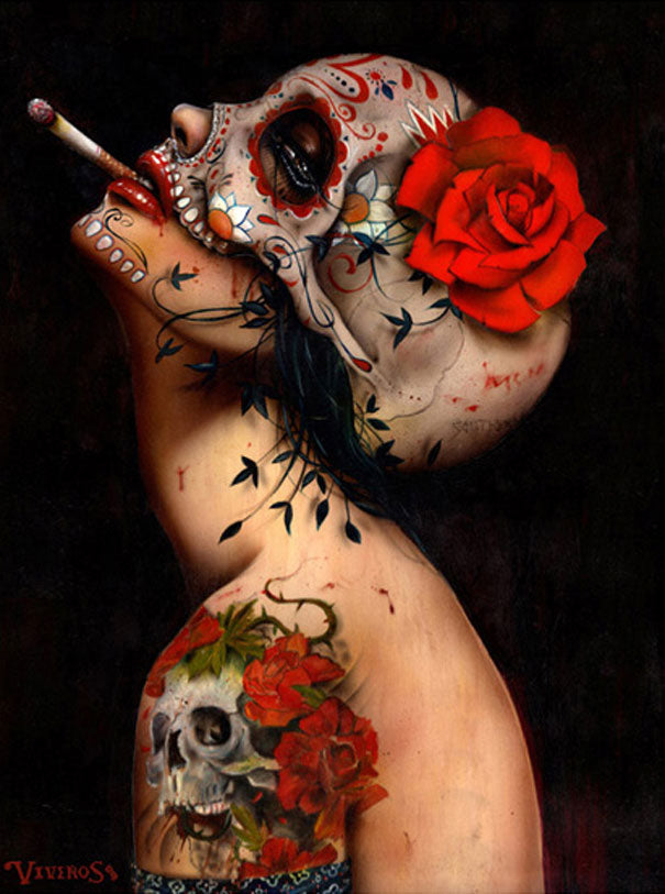 High quality Oil painting Canvas Reproductions Viva La Muerte by Brian M.Viveros  Painting hand painted - Smoulder Products