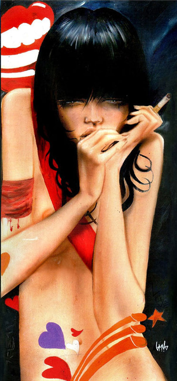 High quality Oil painting Canvas Reproductions Whispers From Down Below  by Brian M.Viveros  Painting hand painted - Smoulder Products