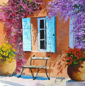 High quality Oil painting Canvas Reproductions sunny shutters  By Jean Marc Janiaczyk hand painted - Smoulder Products