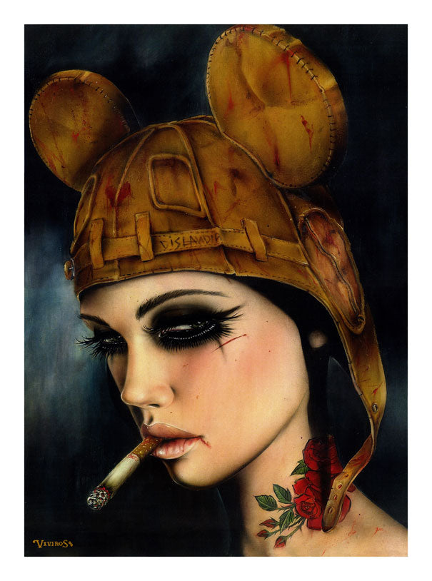 High quality Oil painting Canvas Reproductions where the wild girls smoke(dirtyland V  by Brian M.Viveros  Painting hand painted - Smoulder Products