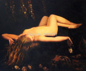 High quality To Sleep Lord Frederic Leighton oil painting canvas Hand painted Portrait Nude Art Reproduction - Smoulder Products