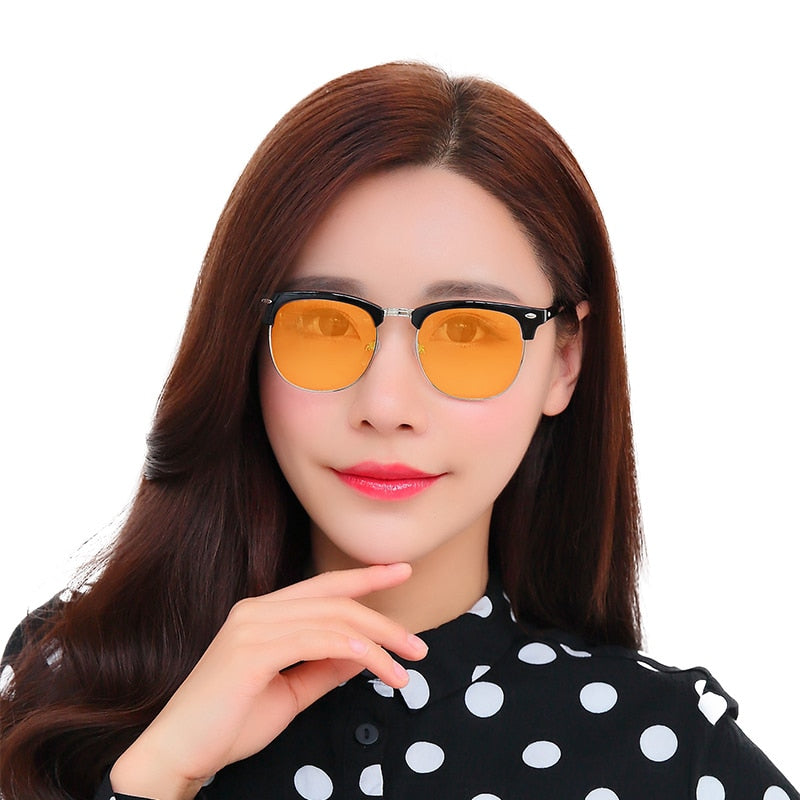 IVSTA Real Blue Light Blocking Glasses Blocks 95% Anti Blue Ray Gaming Glasses Computer Smartphone TV Minus Eye Starin 3016 - Smoulder Products